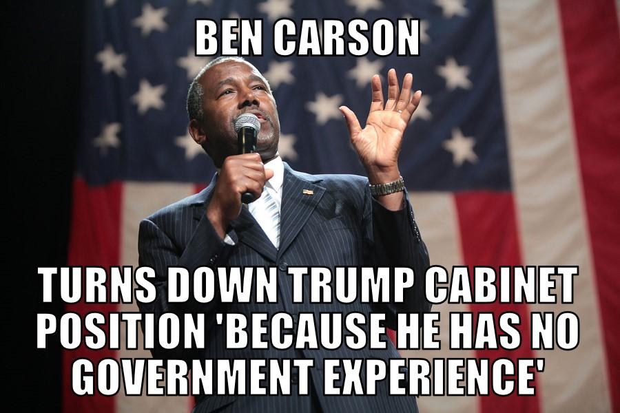 Ben Carson turns down Trump Cabinet position   MEMENEWS