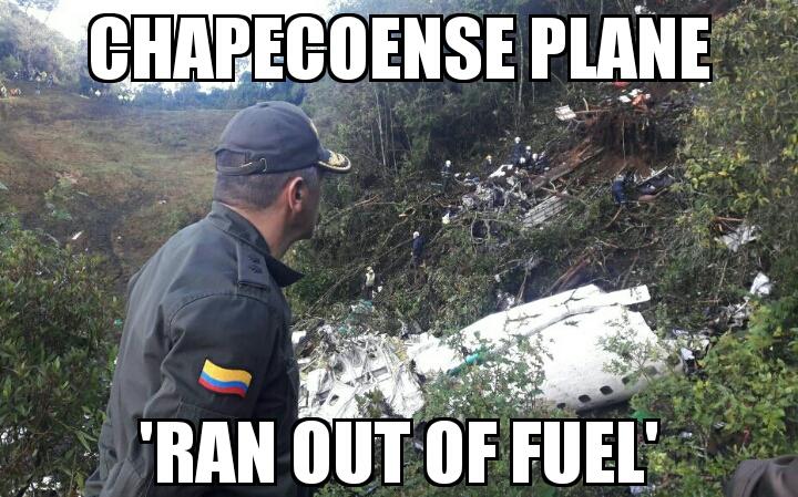 chapecoense plane ran out of fuel memenews com memenews com