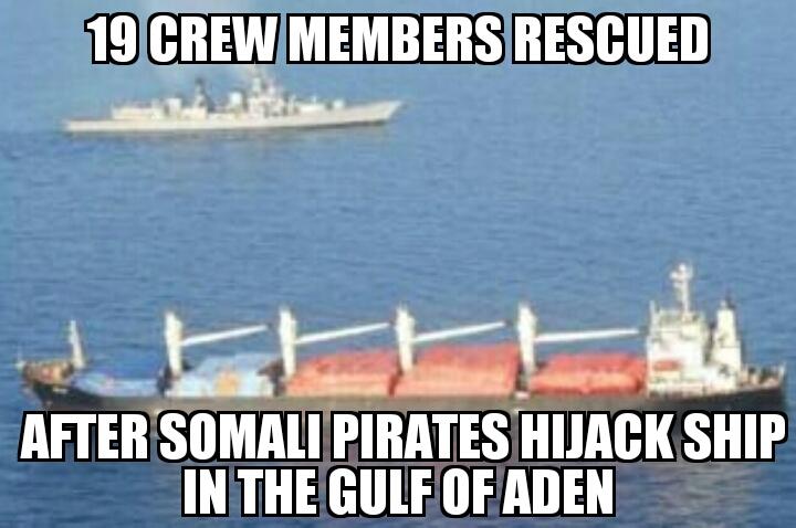 Somali pirates hijack ship in Gulf of Aden | MEMENEWS COM