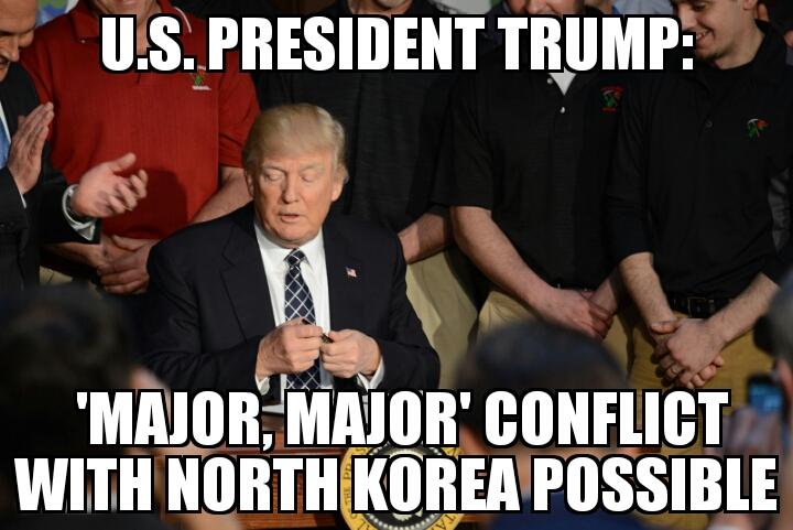 Trump Major Major North Korea Conflict Possible Memenews