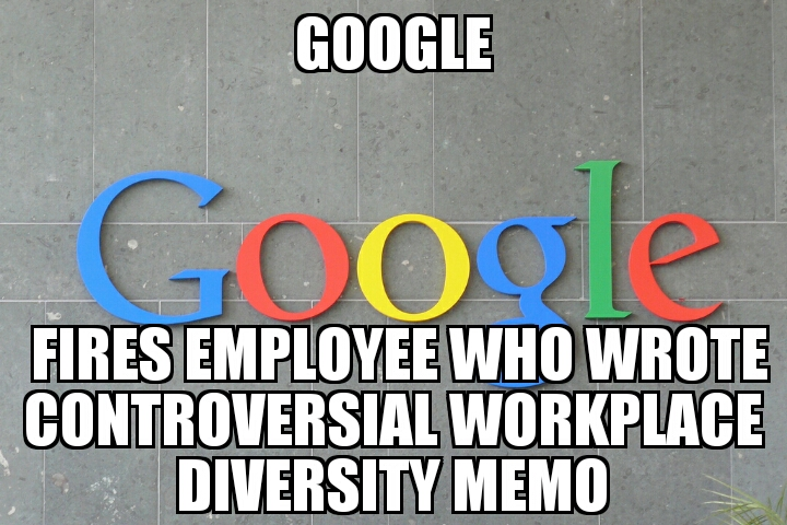 google fires workplace diversity author memenews