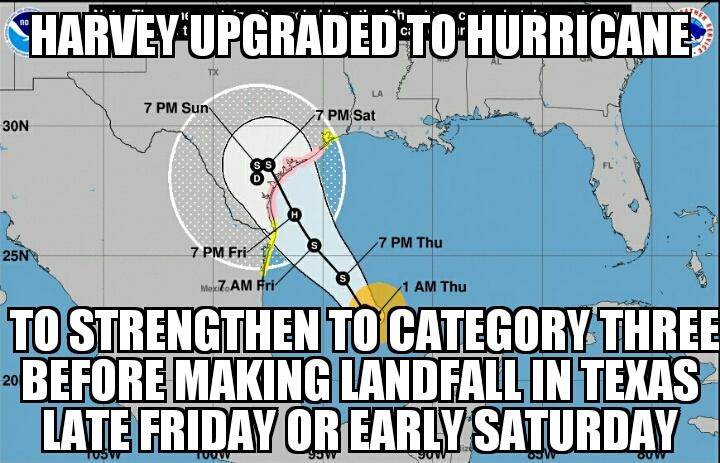 meme2017 08 24 02 47 56 hurricane warning in texas as harvey strengthens memenews