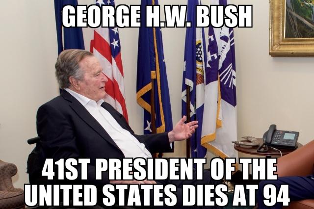George H W Bush Dies Memenews