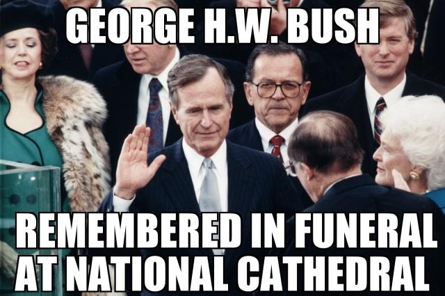 George H W Bush Funeral Memenews