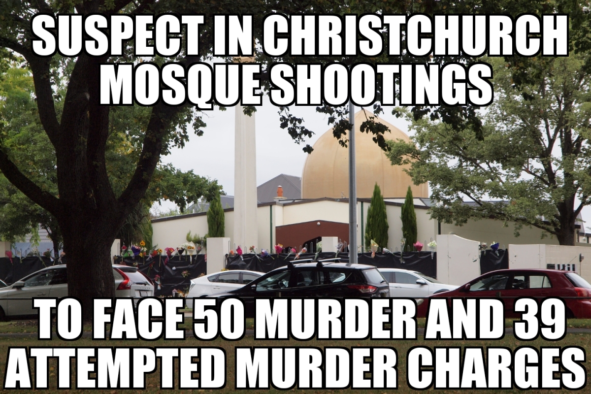 Christchurch Mosque Detail: Christchurch Mosque Shooting Suspect To Face 89 Charges