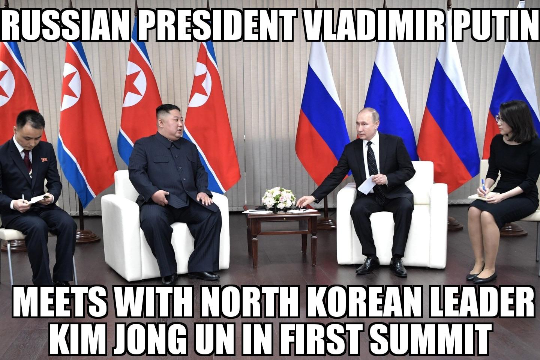 Vladimir Putin Kim Jong Un Meet Memenews Com